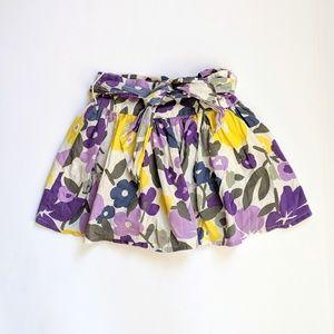 Mini Boden purple/yellow floral skirt 5-6yr